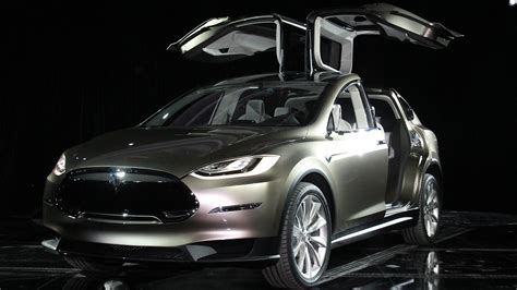 tesla suv called model x and has astonishing doors
