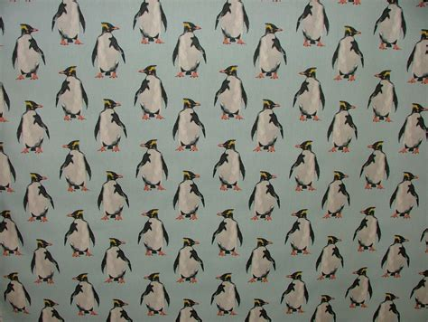 upholstery fabric nautical theme penguin ocean coastal nautical seaside theme curtain