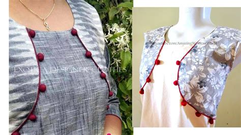 cutting pattern of kurti jacket style pattern kurti kameez cutting stitching