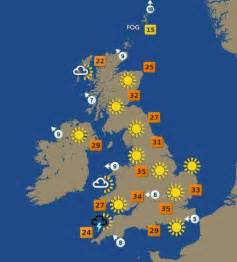 weather forecast map the united kingdom weather forecast august 10th 2003 flickr