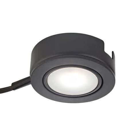 Hton Bay 6 Light Xenon Black Under Cabinet Puck Light Hton Bay Led Cabinet Lighting