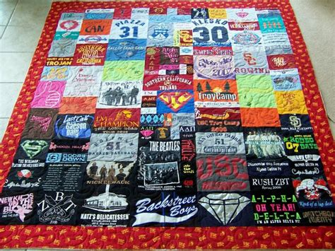 T Shirt Quilt How To by T Shirt Quilt Friends Made Him One Of These