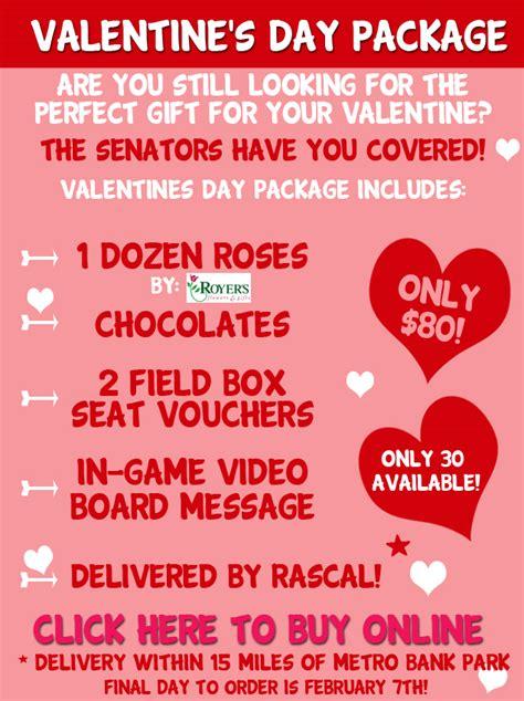 valentines packages valentines package harrisburg senators content
