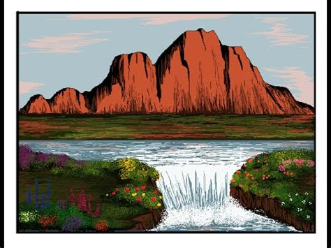 Landscape Pictures To Draw And Paint How To Draw Mountain In Ms Paint Part1