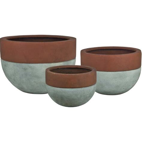 Concrete Bowl Planter by Pride Garden Products Esteras Collection Vasos