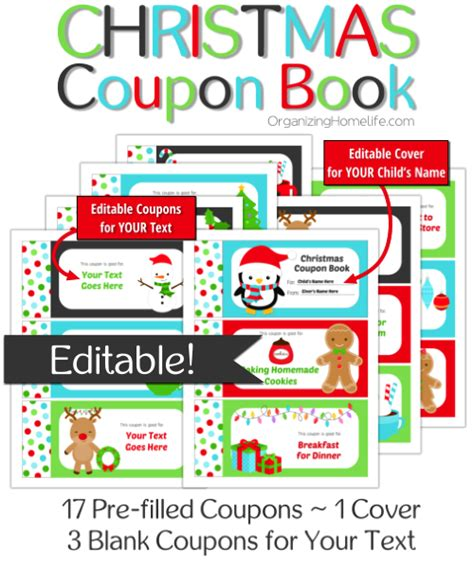 christmas light coupons printable best photos of printable christmas coupon book template