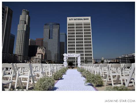 rooftop wedding in los angeles los angeles athletic club wedding