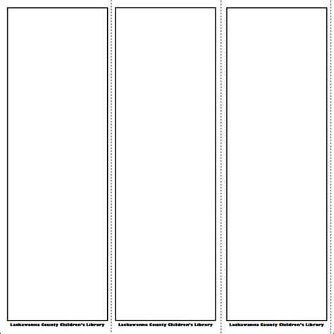 bookmark template printable blank bookmark template pinteres