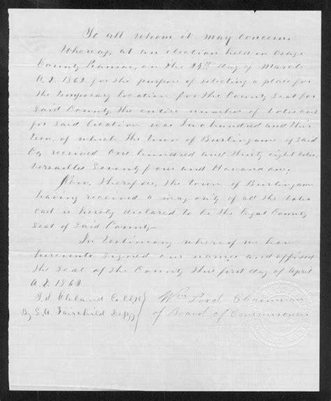 Osage County Records Osage County Organization Records Kansas Memory