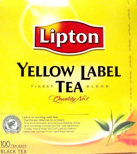 Lipton Yellow Label 100 Sachet consumables uk lipton yellow label 100 tea bags pack of 3 total 300 tea bags