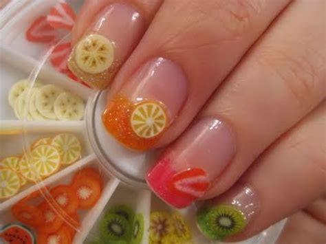 fruit nail art tutorial easy easy fruit nail art youtube