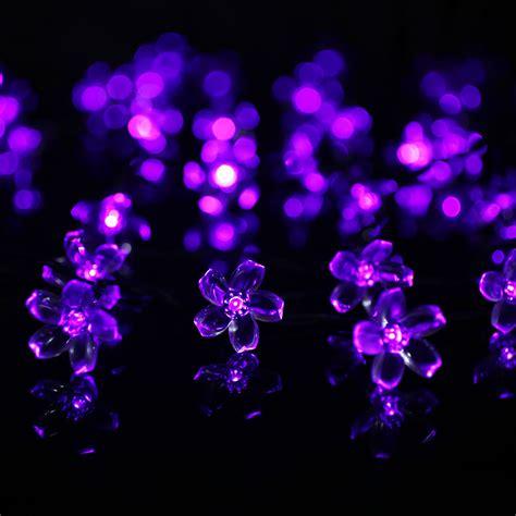 23ft 7m 50 led solar flower string lights