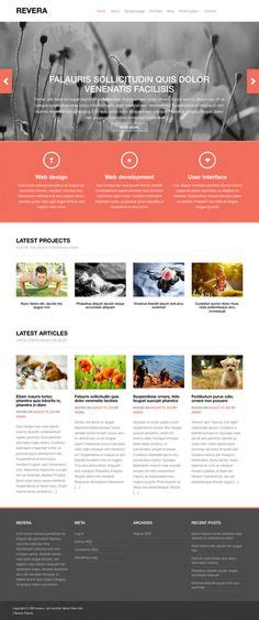 website design by fabthemes revera is a free premium wordpress theme based on the