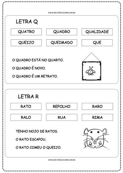 Fichas de Leitura para Alfabetização - De A a Z - Mestre