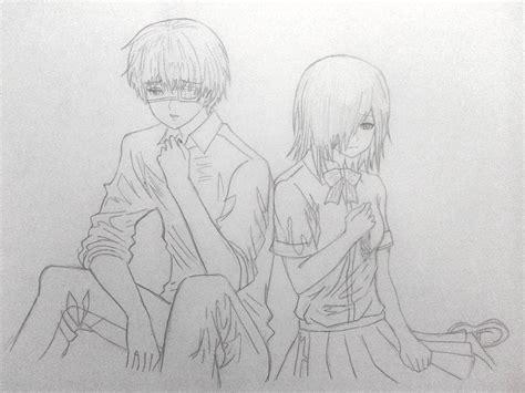 Drawing X by Kaneki X Touka By Sakurachan32 On Deviantart