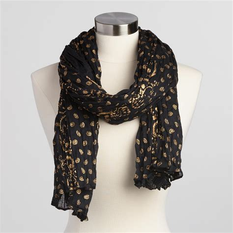 black and gold scarf world market