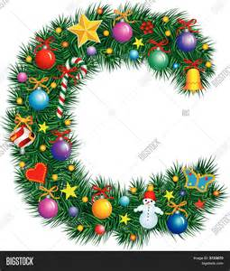 alphabet letter c christmas vector photo bigstock