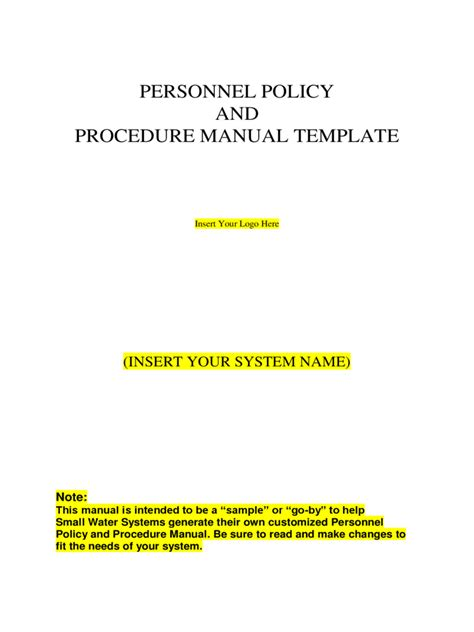 policies and procedure manual template policies and procedures template 2 free templates in pdf