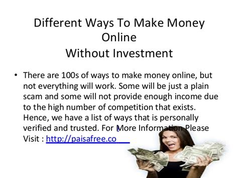 Legit Ways To Make Money Online Without Investment - 15 legitimate ways to make money online without investment autos post