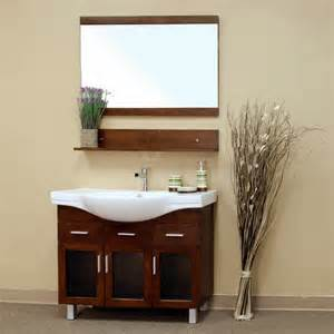 walnut finish modern 40 single sink bathroom vanity