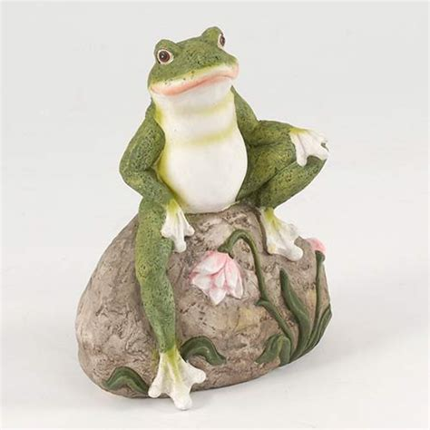 Rock Garden Ornaments 14cm Frog On Rock Garden Ornament Gables And Gardens