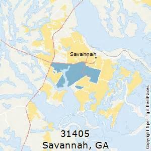 Savannah Zip Code Map by Best Places To Live In Savannah Zip 31405 Georgia