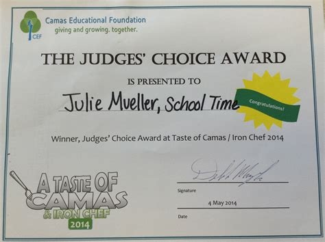 Camas School District Calendar Taste Of Camas Choice Award Winner Lacamas Heights