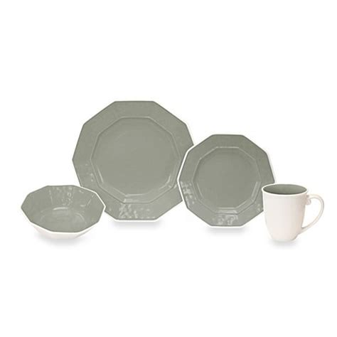bed bath and beyond dish sets baum prisma 16 piece dinnerware set in grey bed bath