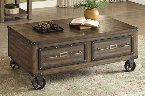 industrial look coffee table amado industrial style storage coffee table