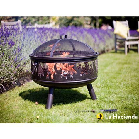 Backyard Grill Bowl La Hacienda Wildfire Steel Bowl With Grill Bronze