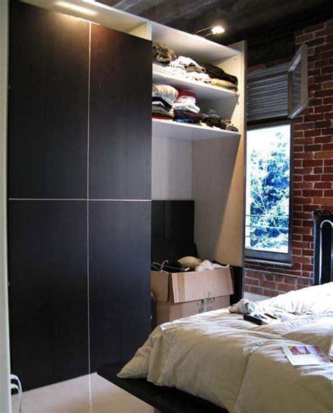 Diy Bedroom Wardrobe by Diy Loft Room Divider And Wardrobe