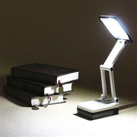 portable folding led reading light rechargeable table