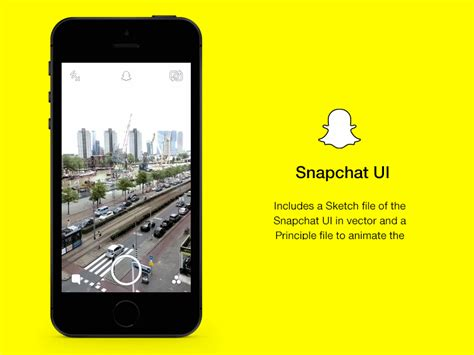 Snapchat Ui And Principle Animation Sketch Freebie Download Free Resource For Sketch Sketch Snapchat Psd Template