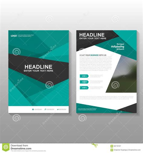 design proposal abstract abstract green vector leaflet brochure flyer business