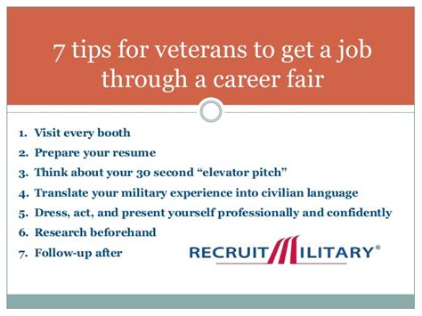 7 Tips On Getting by 7 Tips For Veterans To Get A Through A Career