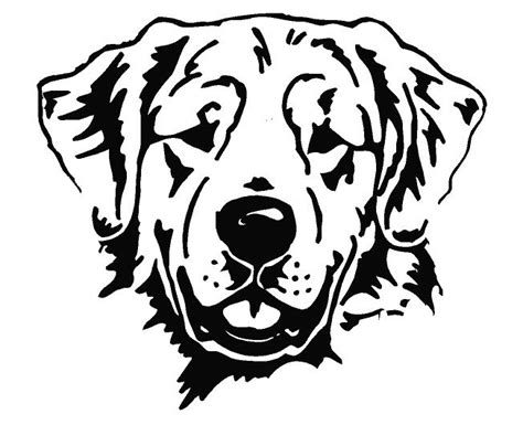 golden retriever logo golden retriever line drawing
