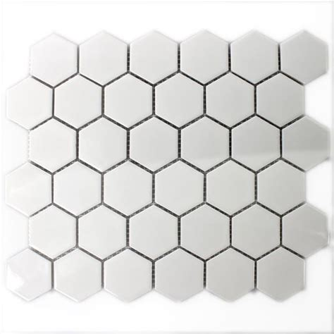 Fliese Hexagon keramik mosaik fliesen hexagon weiss gl 228 nzend ebay