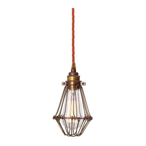Cable Lighting Pendants Warehouse Wire Cage Ceiling Pendant Light In Bronze With Orange Flex