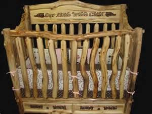 Cedar Log Baby Crib Bedroom