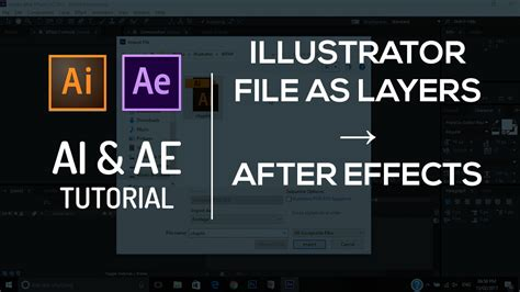tutorial illustrator after effects import illustrator file ai as layers to after effects