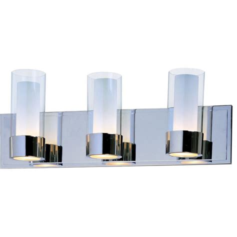 Glass Bathroom Light Plc Lighting 4 Light Polished Chrome Bath Vanity Light With Clear Glass Cli Hd72196pc The Home