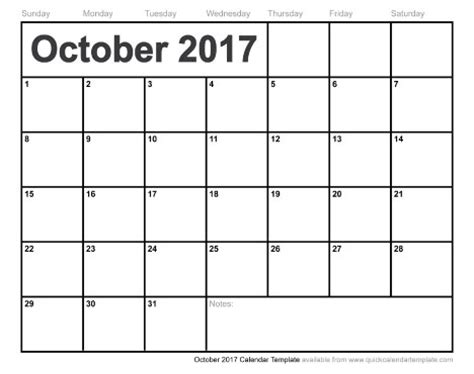 printable calendar month of october 2017 free printable october 2017 calendar
