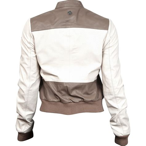 womens brown moto durango leather company women s cream and brown moto jacket