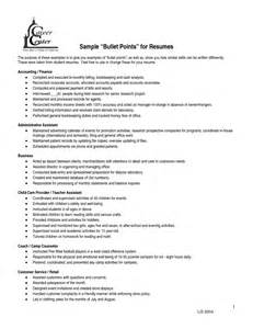 resume bullet points for receptionist 1 - Resume Bullet Points
