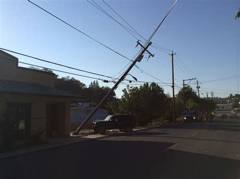 Stewart Works The Pole by Vehicle Vs Power Pole Sonora Department