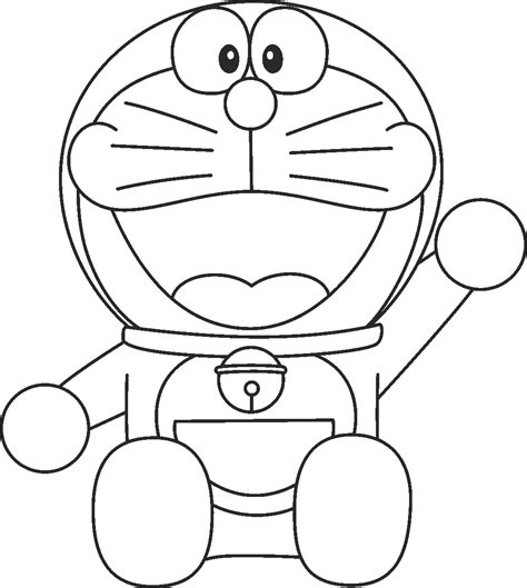 Dora Emon Coloring Page | doraemon coloring pages free large images