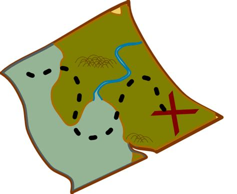 clipart of map treasure map clip at clker vector clip