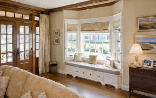 Living Room Bay Window Seat How To Solve The Curtain Problem When You Bay Windows