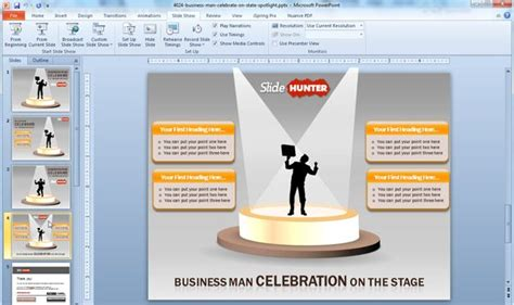 Free Business Stage Spotlight Powerpoint Template Spotlight Powerpoint Template