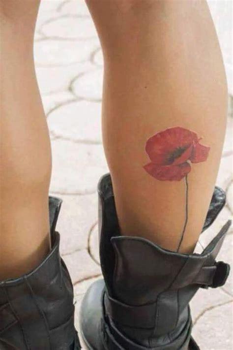 minimalist tattoo calf 425 best images about poppy tattoo on pinterest
